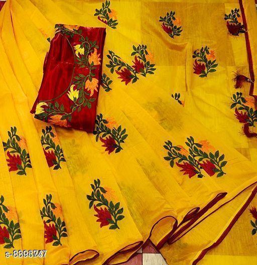 trendy kora cotton emboidary saree