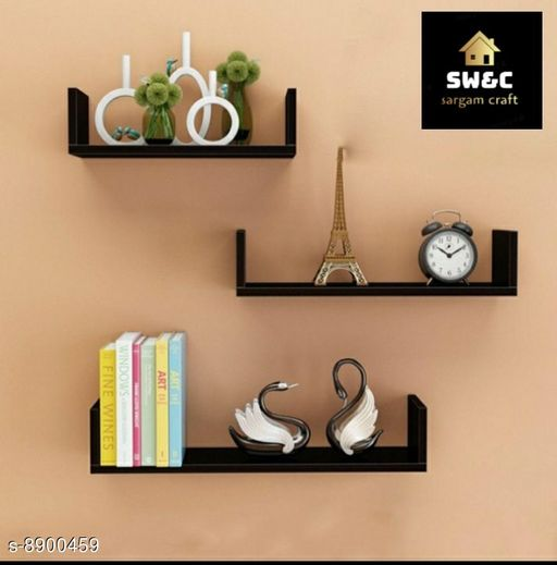 Shelves wooden black u rack  *Material* Wooden  *Pack* Pack of 1  *Sizes Available* Free Size *    Catalog Name: Classic Wall Shelves CatalogID_1528720 C127-SC1622 Code: 337-8900459-