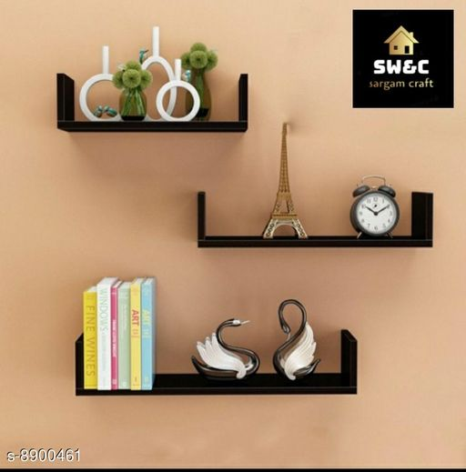 Shelves wooden black u rack  *Material* Wooden  *Pack* Pack of 1  *Sizes Available* Free Size *    Catalog Name: Classic Wall Shelves CatalogID_1528720 C127-SC1622 Code: 337-8900461-