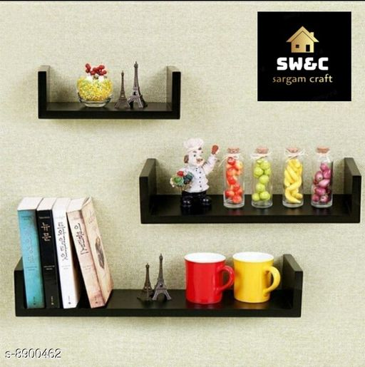 Shelves wooden black u rack  *Material* Wooden  *Pack* Pack of 1  *Sizes Available* Free Size *    Catalog Name: Classic Wall Shelves CatalogID_1528720 C127-SC1622 Code: 337-8900462-