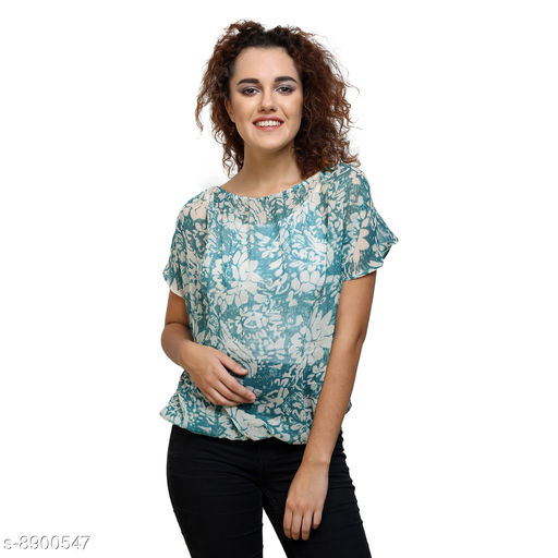 Tops & Tunics Tops & Tunics  *Fabric* Chiffon  *Pattern * Printed / Solid  *Sizes*   *S (Top Bust Size* 36 in, Top Length Size  *M (Top Bust Size* 38 in, Top Length Size  *L (Top Bust Size* 40 in, Top Length Size  *XL (Top Bust Size* 42 in, Top Length Size  *Sizes Available* S, M, L, XL *    Catalog Name: Fancy Feminine Women Tops & Tunics CatalogID_1528736 C79-SC1020 Code: 702-8900547-
