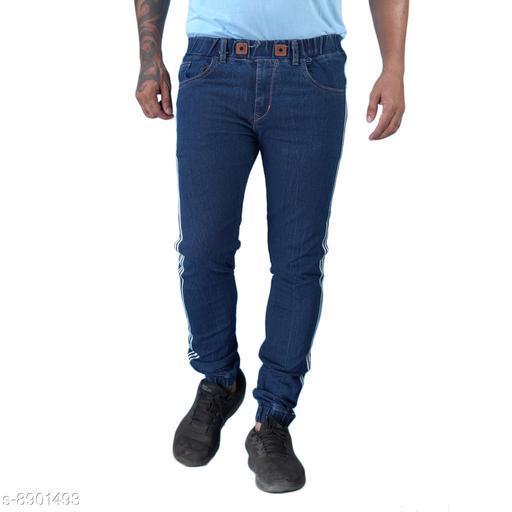 Hootry Men Blue Slim Fit Mid-Rise JOGGER