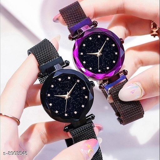 Fabulous Diamond Dial Pack of 2 Magnet Collection Watches