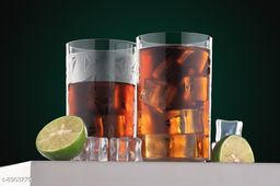 Glass Set Eching Unbreakable Stylish Transparent Glass Set (250 ml, Pack of 6) ABS Poly Carbonate Plastic