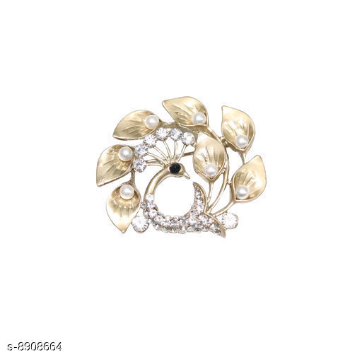 Jewellery Set Surakav Brooch for Men & Women  *Base Metal* Alloy  *Stone Type* Diamond Inlaid  *Palated* Gold Plated  *Type* Brooch  *Multipack* 1  *Sizes Available* Free Size *    Catalog Name: Classic Women Jewellery Accessories CatalogID_1530660 C77-SC1093 Code: 013-8908664-