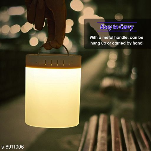 High Bass Portable Bluetooth Mobile Touch Lamp Color Changing Speaker With FM, USB/TF Card Slot