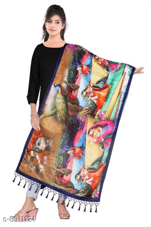 Digital Printed Silk Dupatta For Womens and Girls