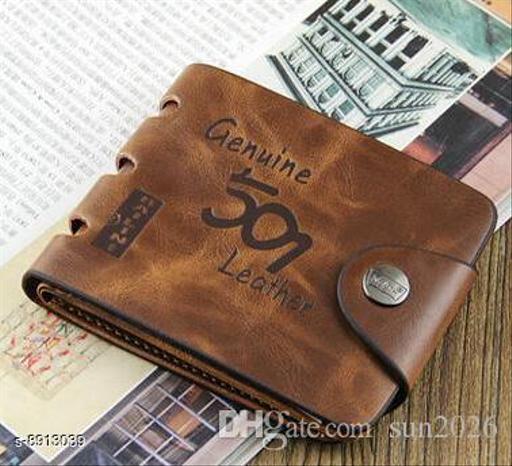 Stylish Men's Rust Leather Wallet