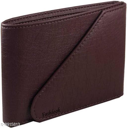 fashlook brown chaku wallet for men
