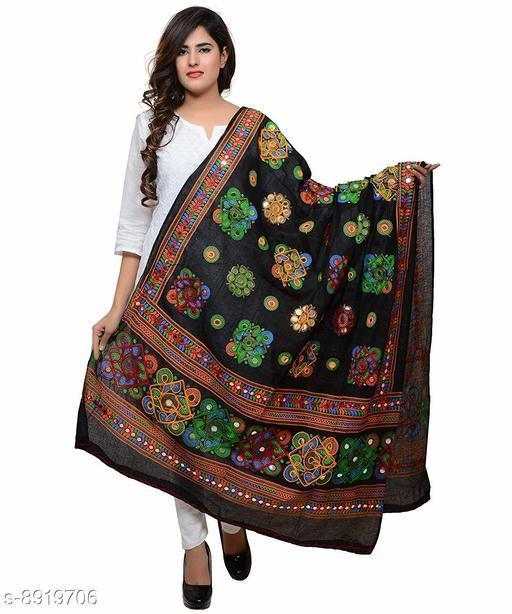 Rajasthani Cotton Embroidered Women's Dupatta