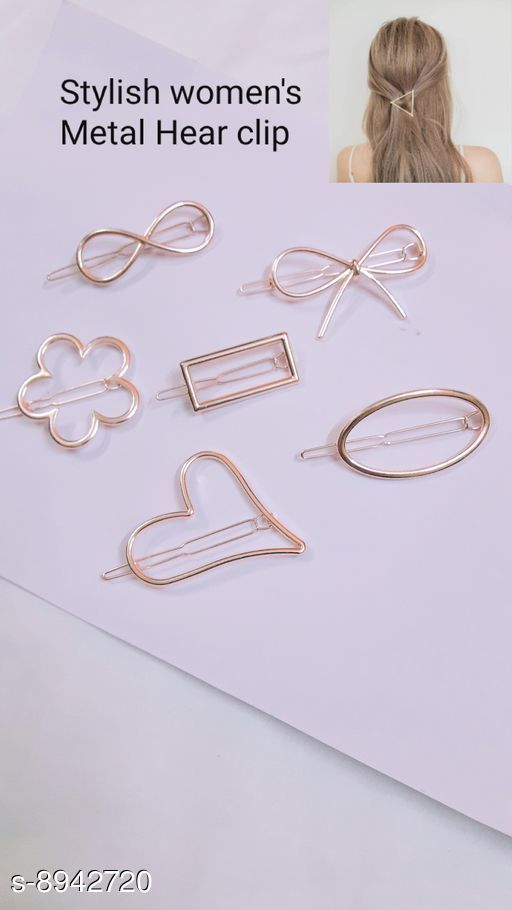 Tools & Accessories Tools & Accessorie Stayeal Women's Metal Hairpin Hair Clip Accessories Styling Jewelry ( pack of 6 pic )  *Material * metal  *Multipack * 6  *Size * Free Size  *Sizes Available* Free Size *    Catalog Name: Tools & Accessorie CatalogID_1538469 C50-SC1250 Code: 642-8942720-