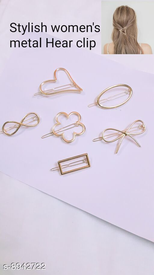 Tools & Accessories Tools & Accessorie Stayeal Women's Metal Hairpin Hair Clip Accessories Styling Jewelry ( pack of 6 pic )  *Material * metal  *Multipack * 6  *Size * Free Size  *Sizes Available* Free Size *    Catalog Name: Tools & Accessorie CatalogID_1538469 C50-SC1250 Code: 642-8942722-