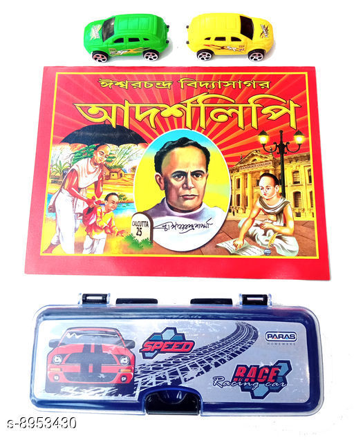 Educational Toys Educational Toys  *Product Name* Educational Toys With Plastic  Pencil Box, Toy Cars & Bengali & English Book  *Material * Plastic  *Type* Toy  *Variation* Free Size  *Multipack* Pack Of 1  *Sizes Available* Free Size *    Catalog Name: Latest Kids Educational Toys For Reading & Learning CatalogID_1541122 C86-SC1293 Code: 503-8953430-