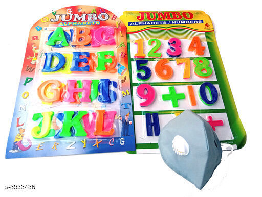 Educational Toys Educational Toys  *Product Name* Educational Toys With Plastic Alphabets, Numbers & Face Mask Combo  *Material * Plastic  *Type* Toy  *Variation* Free Size  *Multipack* Pack Of 1  *Sizes Available* Free Size *    Catalog Name: Latest Kids Educational Toys For Reading & Learning CatalogID_1541122 C86-SC1293 Code: 513-8953436-