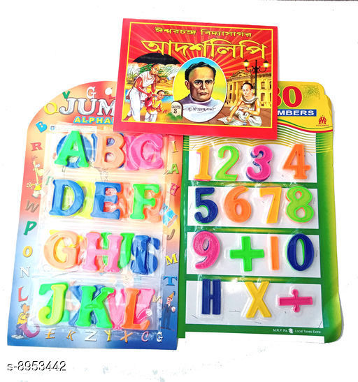 Educational Toys Educational Toys  *Product Name* Educational Toys With Plastic Alphabets, Numbers & Bengali & English Book  *Material * Plastic  *Type* Toy  *Variation* Free Size  *Multipack* Pack Of 1  *Sizes Available* Free Size *    Catalog Name: Latest Kids Educational Toys For Reading & Learning CatalogID_1541122 C86-SC1293 Code: 513-8953442-