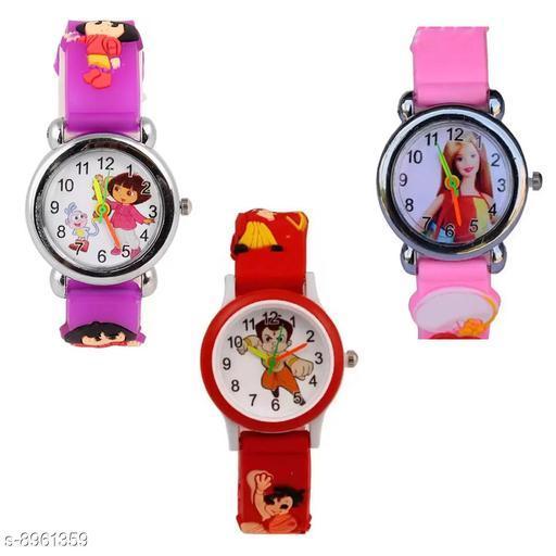 PBarbie - PDora - RBheem Kids 3 Fancy Watch