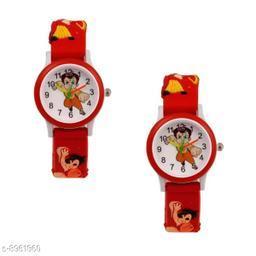 Red Chota Bheem Same 2 Fancy Watch Combo for Kids