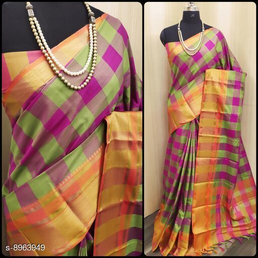 Sarees Beautifull Saree  *Saree Fabric* Handloom Chex Saree  *Blouse* Running Blouse  *Blouse Fabric* Handloom Chex Saree  *Pattern* Embroidered  *Blouse Pattern* Embroidered  *Multipack* Single Free Size (Saree  With Running Blouse )  *Sizes Available* Free Size *    Catalog Name: Banita Pretty Sarees CatalogID_1543815 C74-SC1004 Code: 675-8963949-