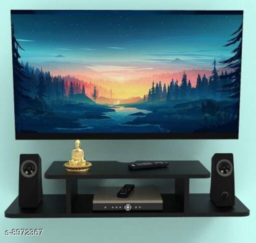 TV Setup Box & Remote Stand Wall Shelf