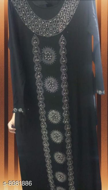 Abaya Designer Islamic wear Abaya  *Sizes*   *Free Size (Bust Size* 47 in, Length Size  *Sizes Available* Free Size *    Catalog Name: Latest Women Abayas & Coats CatalogID_1548155 C74-SC1449 Code: 847-8981886-