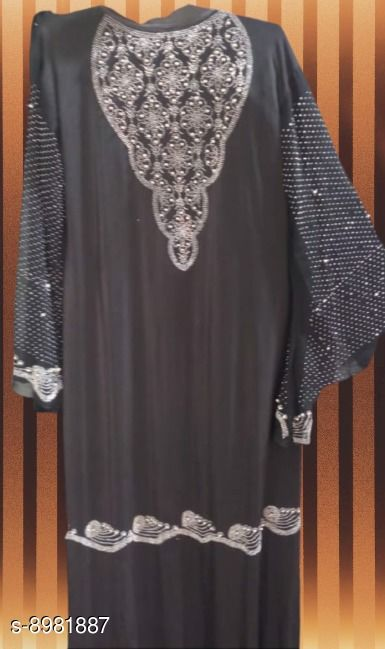 Abaya Designer Islamic wear Abaya  *Sizes*   *Free Size (Bust Size* 47 in, Length Size  *Sizes Available* Free Size *    Catalog Name: Latest Women Abayas & Coats CatalogID_1548155 C74-SC1449 Code: 808-8981887-
