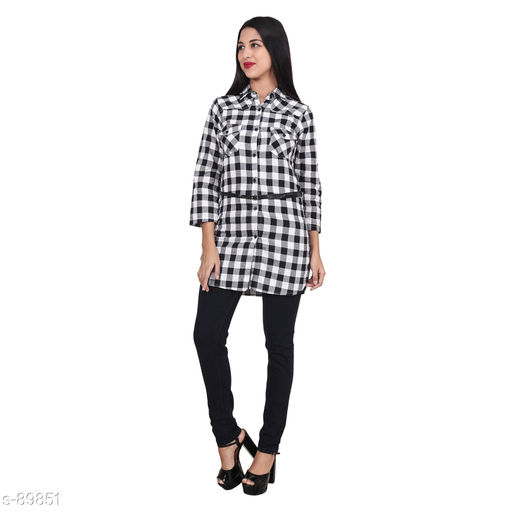Shirts Classic Cotton Checked Women Shirt  *Fabric* Cotton   *Sleeves* Sleeves Are Included   *Size* S - 36 in, M - 38 in, L - 40 in, XL - 42 in   *Length* Up To 34 in   *Type* Stitched   *Description* It Has 1 Piece Of Women Shirt   *Pattern* Checked  *Sizes Available* S, M, L, XL *   Catalog Rating: ★4 (289)  Catalog Name: Free Mask Trendyfrog Trend Of Checkered Shirts CatalogID_8992 C79-SC1022 Code: 683-89851-