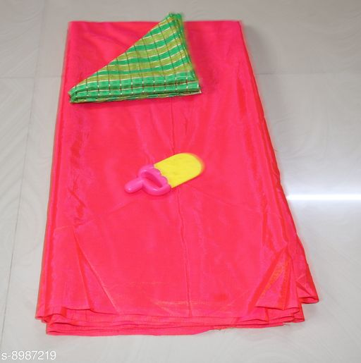 Sarees Sana Plan Saree  Blouse Best Quality Saree    *Saree Fabric* Sana Silk  *Blouse* Saree with Multiple Blouse  *Blouse Fabric* Jacquard  *Pattern* Self-Design  *Blouse Pattern* Woven Design  *Multipack* Single  *Sizes*   *Free Size (Saree Length Size* 5.4 m, Blouse Length Size  *Sizes Available* Free Size *    Catalog Name: Charvi Fashionable Sarees CatalogID_1549390 C74-SC1004 Code: 663-8987219-