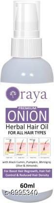 Hair Care ORAYA 100% Organic Onion Hair Oil with 14 Essential Oils for Hair Regrowth, Dandruff Control Hair Oil (60 ml) Hair Oil (60 ml)  *Product Name* ORAYA 100% Organic Onion Hair Oil with 14 Essential Oils for Hair Regrowth, Dandruff Control Hair Oil (60 ml) Hair Oil (60 ml)  *Brand Name * Hair_Oil  *Type* Hair Oil  *Multipack* 1  *Capacity * 60 Ml  *Sizes Available* Free Size *    Catalog Name:  Advanced Proctective Hair Oil  CatalogID_1551497 C50-SC1249 Code: 022-8995340-054