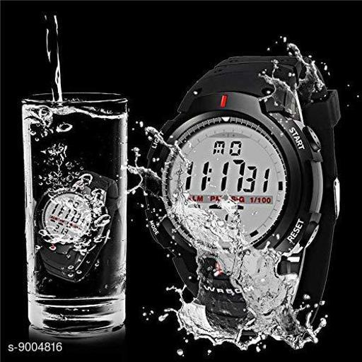 Skylark Digital Men's Watch (Black Dial Black Colored Strap)