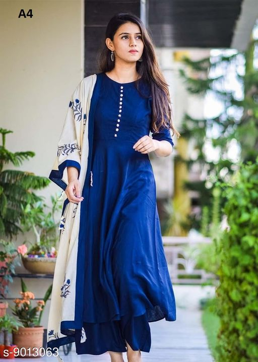 Adorable Straight Plain Party Wear Salwar Suit With Digital Printed Dupatta
