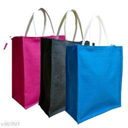 Stylish Women's Blue Jute Small Travel bags