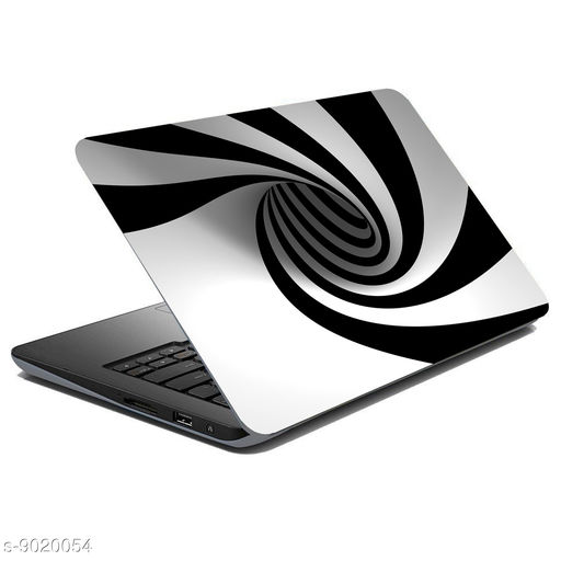 British Terminal® Black And White Pattern Laptop Skin Fully Waterproof Vinyl Sticker, All Black and White Pattern Collection For Dell   Hp   Toshiba   Acer   Asus and All Models (12X16inch) lap5143