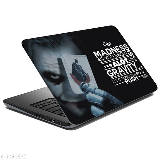 British Terminal® Joker Laptop Skin Fully Waterproof Vinyl Sticker Super Heroes Collection For Dell   Hp   Toshiba   Acer   Asus and All Models (12X16inch) lap5026