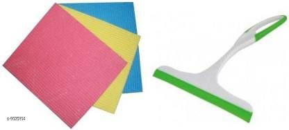 Non Slip Wiper with Cleaning Wipe pad for Kitchen tiles, Table & Platform Cleaning