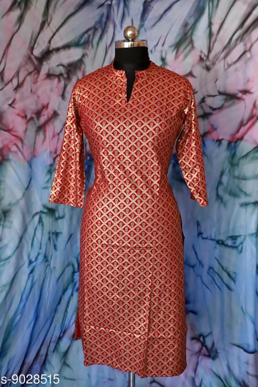 Kurtis & Kurtas Surya Creation - Women's A-line Dress Floral Golden Print Tunic Ethnic Wedding Wear Suit Indian Red Color  *Fabric* Rayon  *Combo of* Single  *Sizes*  M  *Sizes Available* XXS, XS, S, M, L, XL, XXL, XXXL, 4XL, 5XL, 6XL, 7XL, Free Size *    Catalog Name: Aakarsha Alluring Kurtis CatalogID_1559816 C74-SC1001 Code: 246-9028515-997