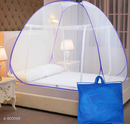 Comfy  Cotton Polyester Fold able Double Bed Mosquito Net