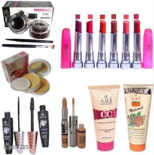 Makeup Combo Trendy Makeup Combo  *Brand* ADS  *Type* Makeup Set  *Capacity* 700gm Multipack-13  *Sizes Available* Free Size *    Catalog Name: Makeup Combo CatalogID_1560507 C51-SC1540 Code: 978-9031723-