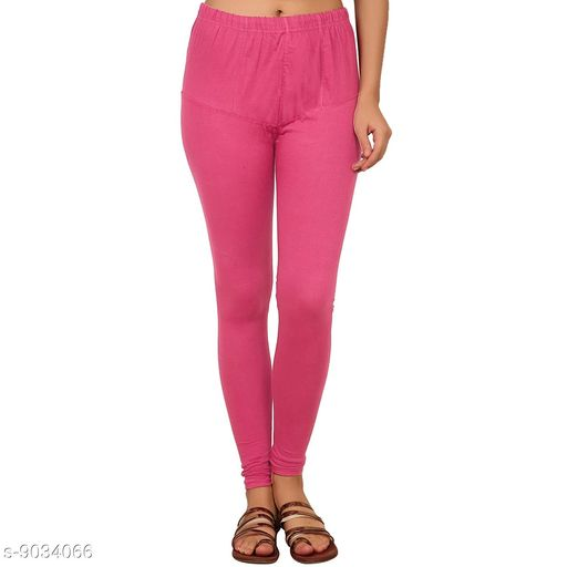 Cotton Lycra Legging For Women / Girls Legging - Majenta Pink