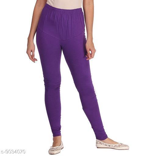 Cotton Lycra Legging For Women / Girls Legging - Purple