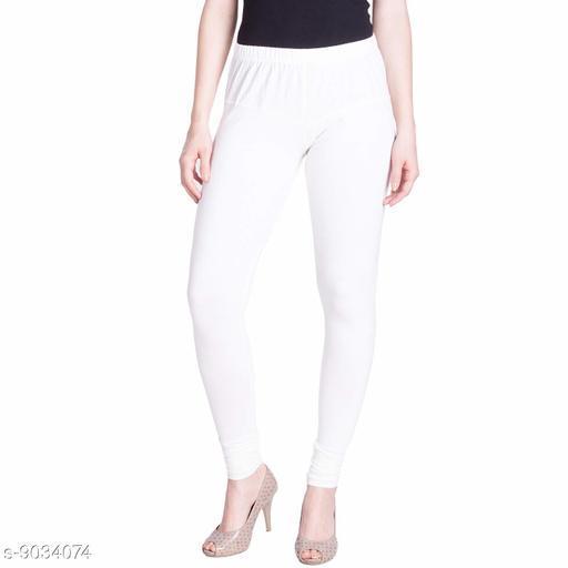 Cotton Lycra Legging For Women / Girls Legging - White
