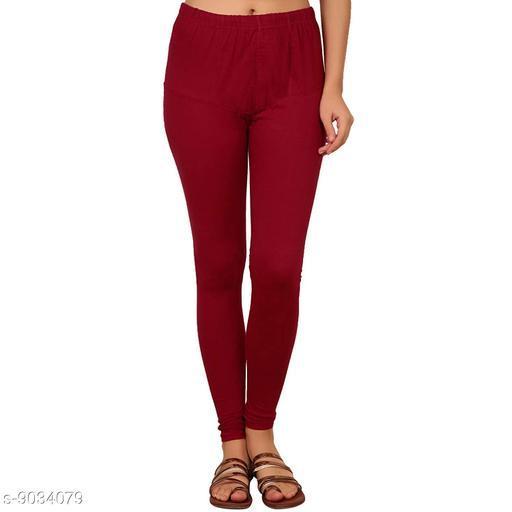 Cotton Lycra Legging For Women / Girls Legging - Maroon