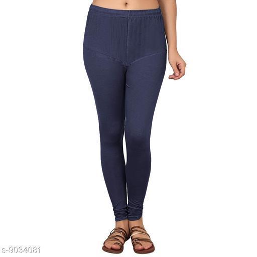 Cotton Lycra Legging For Women / Girls Legging - Navy