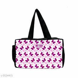 Butterfly Print Waterproof Lunch Bag