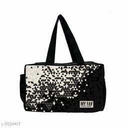 Ikkat Print Black & White Lunch Bag