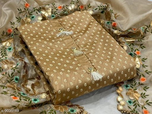 BEAUTIFUL WOMAN'S DRESS MATERIAL WITH DUPATTA