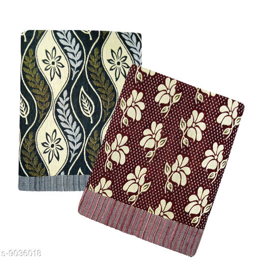 Feather Green Cotton Blanket Pack of 2 pcs