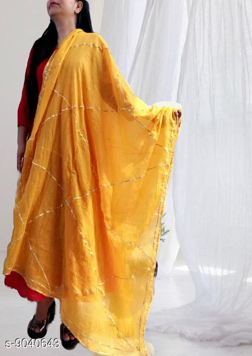 Dupattas  Attractive Women's  Dupatta  *Fabric* Soft Cotton  *Pattern* Self-Design  *Multipack* 1  *Sizes* Free Size (Length Size  *Sizes Available* Free Size *    Catalog Name:  Attractive Women's  Dupatta CatalogID_1562565 C74-SC1006 Code: 163-9040643-