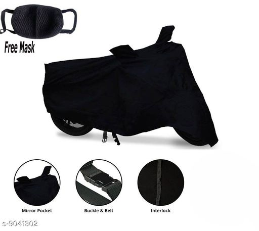 WK Two wheeler Cover _Black _For_TVS XL100