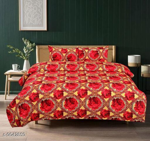 Hub Polycotton Double Bedsheet with two pillow covers