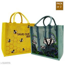 Eco-friendly jute Lunch bags(Pack of 2)